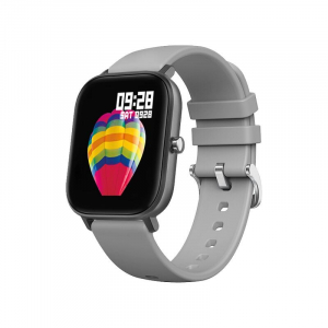 Ceas inteligent (smartwatch)  Optimus AT P8 ecran cu touch 1.4 inch color HD, smartwatch, moduri sport, pedometru, puls, notificari, grey [0]