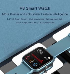 Ceas inteligent (smartwatch)  Optimus AT P8 ecran cu touch 1.4 inch color HD, smartwatch, moduri sport, pedometru, puls, notificari, grey [1]
