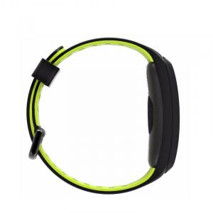 Bratara fitness sport ultra usoara Optimus AT 44 IP68, puls, tensiune, pedometru, notificari, calorii, distanta, moduri sport, black/green [3]