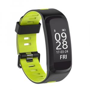 Bratara fitness sport ultra usoara Optimus AT 44 IP68, puls, tensiune, pedometru, notificari, calorii, distanta, moduri sport, black/green [0]