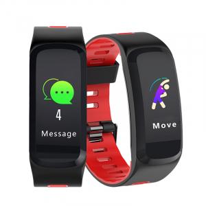 Bratara fitness sport ultra usoara Optimus AT 44 IP68, puls, tensiune, pedometru, notificari, calorii, distanta, moduri sport, black/red [3]