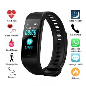 Bratara fitness ultra usoara Optimus AT 5, IP67, puls, tensiune, pedometru, notificari, calorii, distanta, black [3]