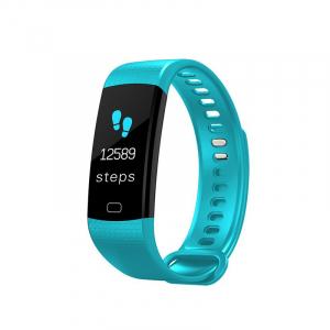 Bratara fitness ultra usoara Optimus AT 5, IP67, puls, tensiune, pedometru, notificari, calorii, distanta, light blue [0]