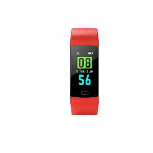 Bratara fitness ultra usoara Optimus AT 5, IP67, puls, tensiune, pedometru, notificari, calorii, distanta, red [1]