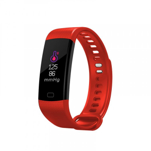 Bratara fitness ultra usoara Optimus AT 5, IP67, puls, tensiune, pedometru, notificari, calorii, distanta, red [0]