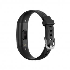 Bratara fitness ultra usoara Optimus AT 55, IP68, puls, tensiune, pedometru, notificari, calorii, distanta, black [1]