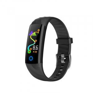 Bratara fitness ultra usoara Optimus AT 55, IP68, puls, tensiune, pedometru, notificari, calorii, distanta, black [0]