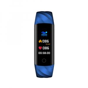 Bratara fitness ultra usoara Optimus AT 55, IP68, puls, tensiune, pedometru, notificari, calorii, distanta, dark blue [2]