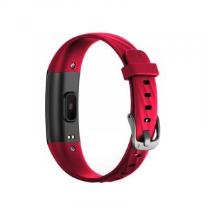 Bratara fitness ultra usoara Optimus AT 55, IP68, puls, tensiune, pedometru, notificari, calorii, distanta, red [1]