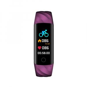Bratara fitness ultra usoara Optimus AT 55, IP68, puls, tensiune, pedometru, notificari, calorii, distanta, violet [2]