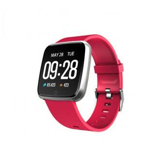 Bratara fitness Optimus AT 7 ecran color 1,3 inch, smartwatch,  tensiune, puls, notificari, IP 67, pedometru, calorii, distanta, moduri sport, red [0]
