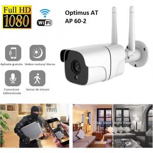 Camera supraveghere exterior IP WIFI Optimus AT AP-60 2.0 mpx fullHD 1920*1080P, comunicare bidirectionala, night vision, cloud aplicatie telefon [6]