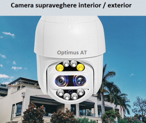 Camera supraveghere interior / exterior cu 2 lentile Optimus AT 9128-2 fullHD 2 mp comunicare bidirectionala, vedere noctura, aplicatie telefon [4]