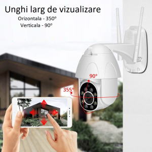Camera supraveghere interior / exterior Optimus AT 9825-2 fullHD  / 15fps, 2 mp comunicare bidirectionala, vedere noctura, aplicatie telefon [0]