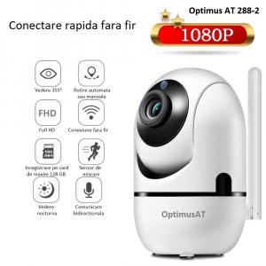 Camera supraveghere interior IP WIFI Optimus AT 288-2 fullHD 1920*1080P 2 mp comunicare bidirectionala, functie de auto urmarire subiect, night vision, aplicatie telefon [9]