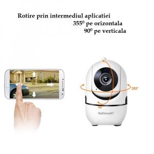 Camera supraveghere interior IP WIFI Optimus AT 288-2 fullHD 1920*1080P 2 mp comunicare bidirectionala, functie de auto urmarire subiect, night vision, aplicatie telefon [7]