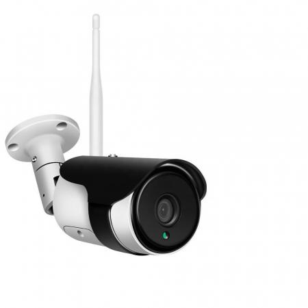 Camera supraveghere exterior carcasa metalica IP WIFI Optimus AT F217-2 fullHD 1920*1080P 2 mp comunicare bidirectionala, night vision, aplicatie telefon [0]