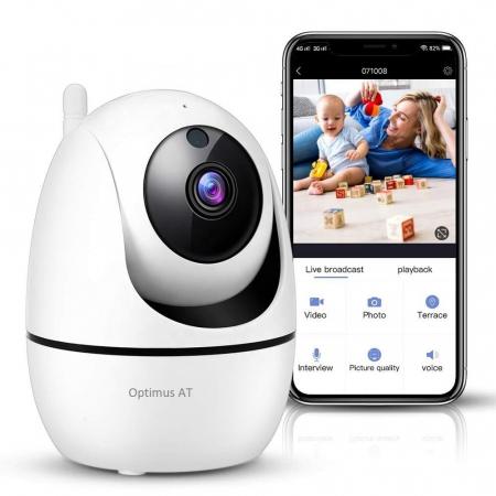 Camera supraveghere IP WIFI Optimus AT 688-3 HD 1280*720P  3.0MP, cloud, comunicare bidirectionala, functie de autourmarire subiect, night vision, aplicatie telefon [0]