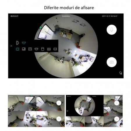 Camera supraveghere tip bec E27 IP WIFI Optimus AT B2-R fullHD 1920*1080P 2 mp, night vision, aplicatie telefon, alb [1]