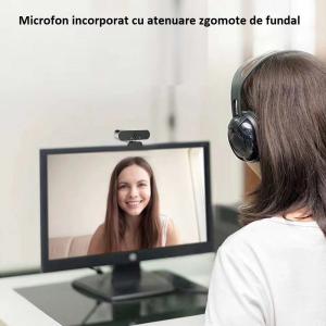 Camera WEB cu microfon Optimus AT DZ-001, rezolutie full-HD, 2mpx, rotire 360, prinderi multiple, negru/gri [1]