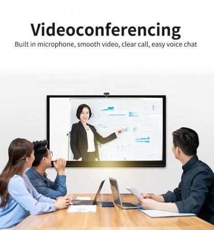 Camera WEB cu microfon Optimus AT C1, rezolutie full-HD 1080p, 2mpx, prinderi multiple, negru [1]