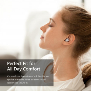 Casti bluetooth 5.0 Hi-Fi TWS Melofun M2 fara fir (wireless), control audio, handsfree, rezistente la apa IPX7, white [3]