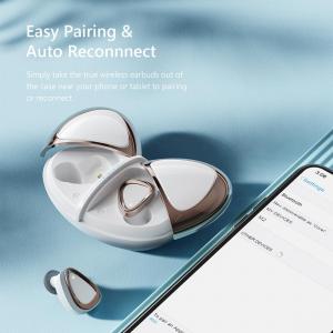 Casti bluetooth 5.0 Hi-Fi TWS Melofun M2 fara fir (wireless), control audio, handsfree, rezistente la apa IPX7, white [1]