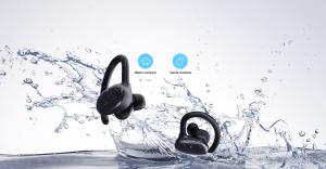 Casti bluetooth 5.0 Hi-Fi TWS MiFa X12 fara fir (wireless), control audio, handsfree, rezistente la apa IPX7, black [2]