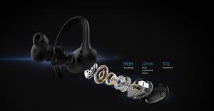 Casti bluetooth 5.0 Hi-Fi TWS MiFa X12 fara fir (wireless), control audio, handsfree, rezistente la apa IPX7, black [1]