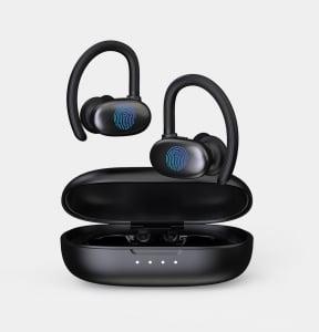 Casti bluetooth 5.0 Hi-Fi TWS MiFa X12 fara fir (wireless), control audio, handsfree, rezistente la apa IPX7, black [0]