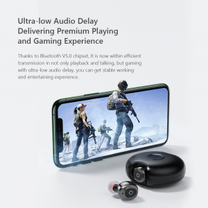 Casti bluetooth 5.0 Hi-Fi TWS Melofun M1 fara fir (wireless), control audio, handsfree, gamimg, rezistente la apa IPX4 black [1]