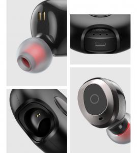 Casti bluetooth 5.0 Hi-Fi TWS Melofun M1 fara fir (wireless), control audio, handsfree, gamimg, rezistente la apa IPX4 black [6]
