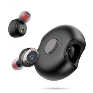 Casti bluetooth 5.0 Hi-Fi TWS Melofun M1 fara fir (wireless), control audio, handsfree, gamimg, rezistente la apa IPX4 black [0]