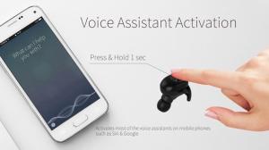 Casti bluetooth Premium TWS 701 fara fir (wireless), control audio, handsfree, rezistente la apa IPX5, black [4]