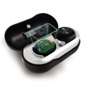 Casti bluetooth Premium TWS 701 fara fir (wireless), control audio, handsfree, rezistente la apa IPX5, black [2]