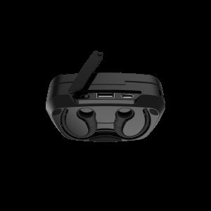 Casti bluetooth Premium TWS 702 fara fir (wireless), control audio, handsfree, rezistente la apa IPX5, metalic blue [4]