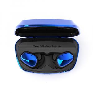 Casti bluetooth Premium TWS 702 fara fir (wireless), control audio, handsfree, rezistente la apa IPX5, metalic blue [1]