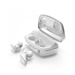 Casti bluetooth Premium TWS 702 fara fir (wireless), control audio, handsfree, rezistente la apa IPX5, white [1]