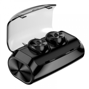 Casti bluetooth TWS Optimus AT V6 fara fir (wireless), control audio, handsfree, rezistente la apa IPX4, black [0]