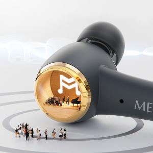Casti bluetooth Hi-Fi TWS Melofun PowerPods fara fir (wireless), control audio, handsfree, rezistente la apa IPX5, black [4]