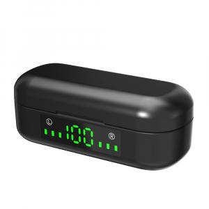 Casti bluetooth TWS Optimus AT V8 fara fir (wireless), senzori tactili, control audio, handsfree, rezistente la apa IPX4, black [1]