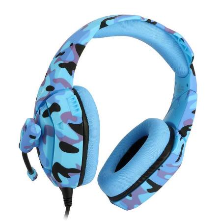 Casti Gaming DC-Onikuma K1, Surround Sound 7.1, Microfon Noise Cancelling, Zero Ear Pressure, Multi Platform -Camouflage  Albastru [4]