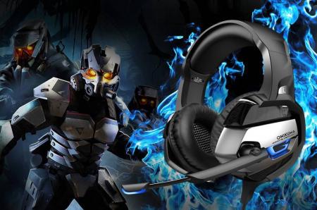 Casti Gaming DC-Onikuma K5 Profesionale, Surround Sound 7.1, Microfon Noise Cancelling, Zero Ear Pressure, Multi Platform Albastru [2]