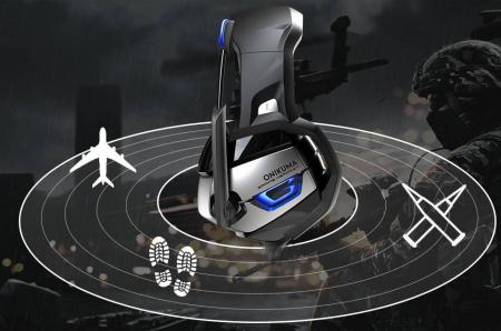 Casti Gaming DC-Onikuma K5 Profesionale, Surround Sound 7.1, Microfon Noise Cancelling, Zero Ear Pressure, Multi Platform Albastru [4]