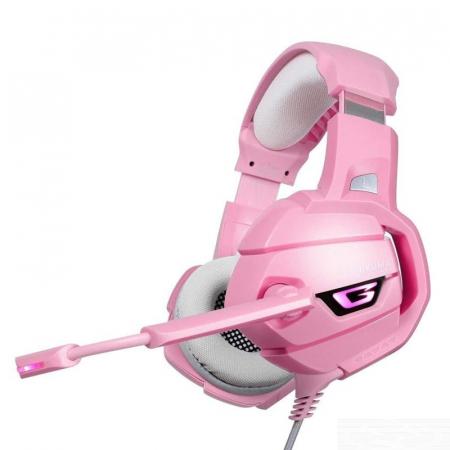 Casti Gaming DC-Onikuma K5 Profesionale, Surround Sound 7.1, Microfon Noise Cancelling, Zero Ear Pressure, Multi Platform - Roz Pink [0]