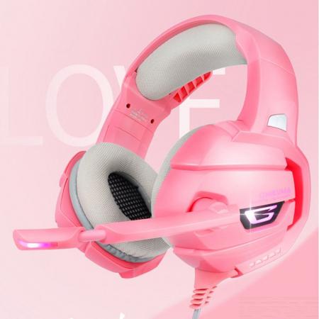 Casti Gaming DC-Onikuma K5 Profesionale, Surround Sound 7.1, Microfon Noise Cancelling, Zero Ear Pressure, Multi Platform - Roz Pink [2]