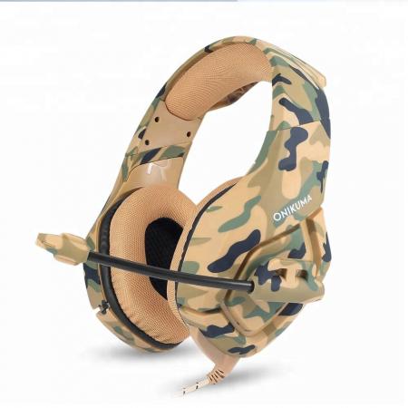 Casti Gaming Onikuma K1 PRO, Microfon Noise Cancelling, Zero Ear Pressure, Multi Platform - Camuflaj galben [1]