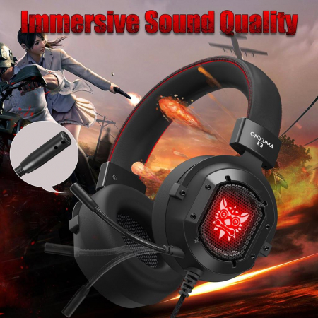 Casti Gaming Onikuma K3, Microfon Noise Cancelling, Zero Ear Pressure, Multi Platform -Negru [2]