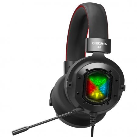 Casti Gaming Onikuma K3, Microfon Noise Cancelling, Zero Ear Pressure, Multi Platform -Negru [0]