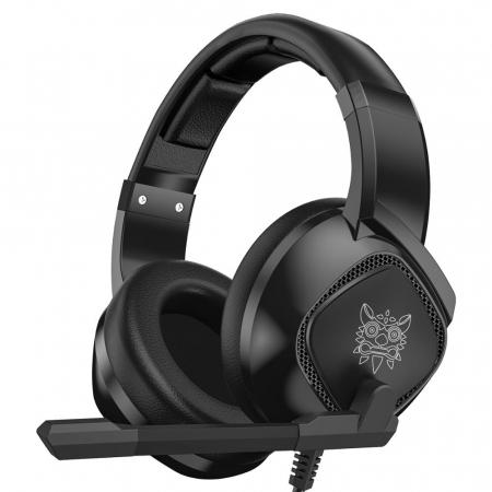Casti Gaming Onikuma K19 Profesionale, Iluminare RGB, Surround Sound 7.1, Microfon Noise Cancelling, Zero Ear Pressure - Negru [0]